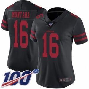 Women 49ers Joe Montana 100th Season Jersey